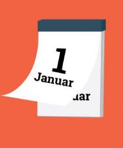 Kalender, tegnet illustrasjon