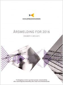 Forsiden av Årsmelding om Sivilombudsmannens forebyggingsarbeid, 2016.